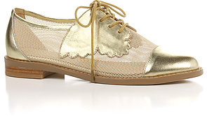 F-Troupe The Butterfly Shoe in Mesh and Leather Gold