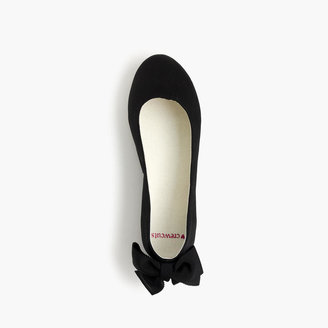 J.Crew Girls' satin bow-back ballet flats