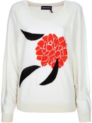 Sonia Rykiel floral intarsia sweater