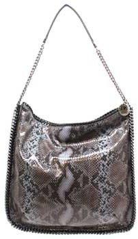 "Stella McCartney 299603"" Grey Python Print Shoulder Bag"