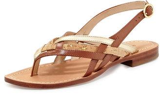 Diane von Furstenberg Carley Woven Flat Thong Sandal