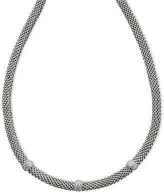 Macy's Diamond Mesh Necklace in Sterling Silver (1/4 ct. t.w.)