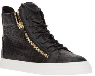 Giuseppe Zanotti Design crocodile effect hi-top sneaker