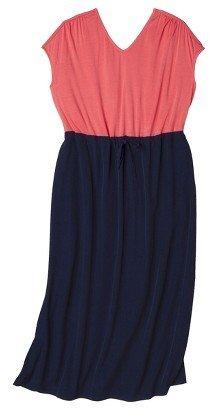 Women's Plus Size Cap Sleeve V Neck Maxi Dress-Pure Energy