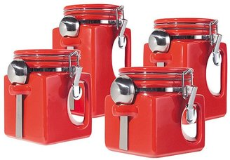 Oggi EZ Grip Handle 4-pc. Kitchen Canister Set