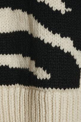 Joseph Zebra-patterned merino wool sweater