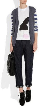 Marni Striped-sleeve alpaca-blend cardigan