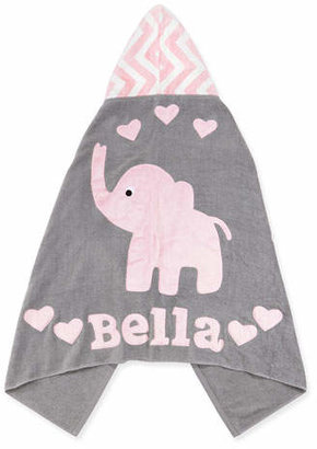 """Boogie Baby Personalized """"Big Foot"""" Elephant Hooded Towel, Pink $68 thestylecure.com"""