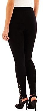 JCPenney a.n.a® Studded Ponte Leggings - Petite