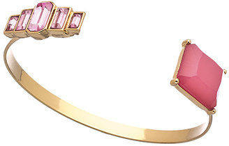 Shameless Jewelry Gold and Pink Art Deco Cuff Bracelet