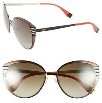 Fendi 57mm Oversized Sunglasses