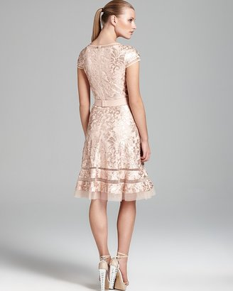 Tadashi Shoji Dress - Cap Sleeve Sequin Lace