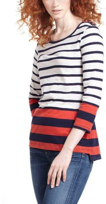Anthropologie Striped Slub Pullover