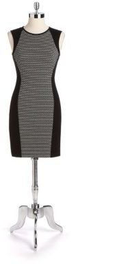 Vince Camuto Sleeveless Dotted Sheath Dress