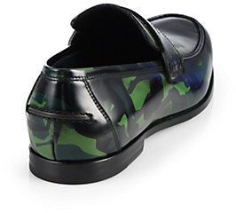 Jimmy Choo Printed Patent Leather Loafers