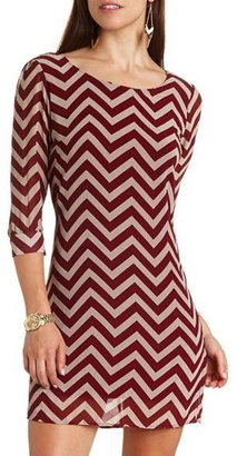 Charlotte Russe Chevron Print Shift Dress