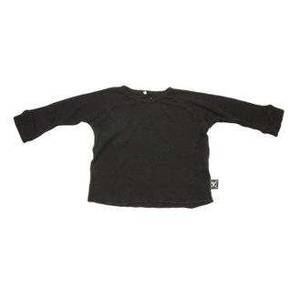 Nununu - Long Sleeve Rib Baseball Shirt - Black