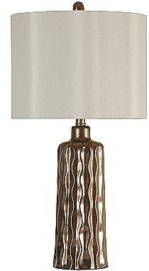 JCPenney Wavy Copper Ceramic Table Lamp