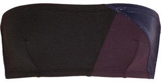 Eres Puzzle Shadow Paneled Bandeau Bikini Top - Black