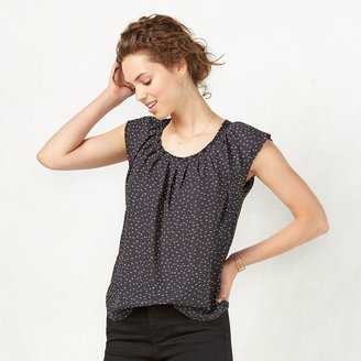 Women's LC Lauren Conrad Pleated Top $36 thestylecure.com