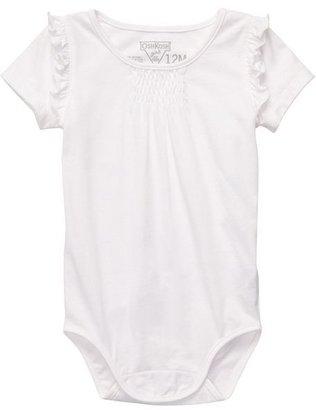 Osh Kosh solid ruffled bodysuit - baby