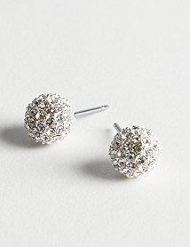 Ann Taylor Loft Round Pave Stud Earrings