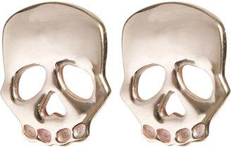 Minor Obsessions Gold Skull Stud Earrings