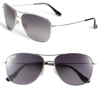 Maui Jim Cliff House 59mm PolarizedPlus2® Metal Aviator Sunglasses