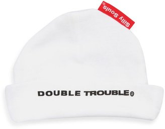 Silly Souls Double Trouble® - Beanie - Newborn-6 months (White)