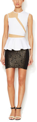 Torn By Ronny Kobo Rina Lace Scuba Skirt