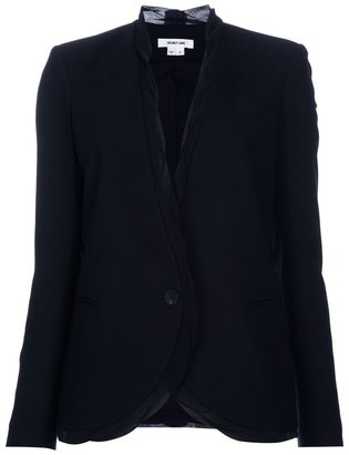Helmut Lang silk trim blazer