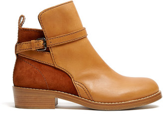 Acne Chestnut Clover Flat Ankle Boot