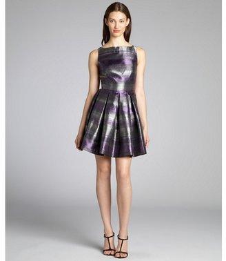 BB Dakota purple and silver stripe jacquard 'Jensine' dress