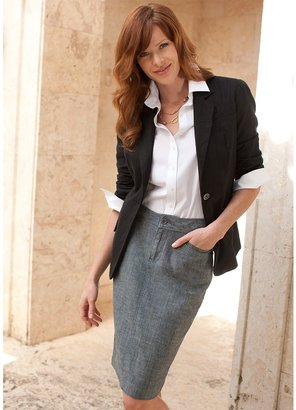 Coldwater Creek Chambray pencil skirt