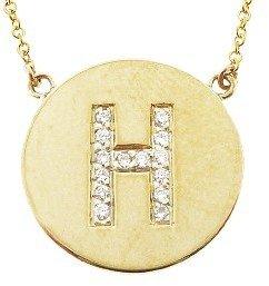 Jennifer Meyer Diamond Letter Necklace - H - Yellow Gold