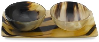 Williams-Sonoma Horn Tray with Condiment Bowls