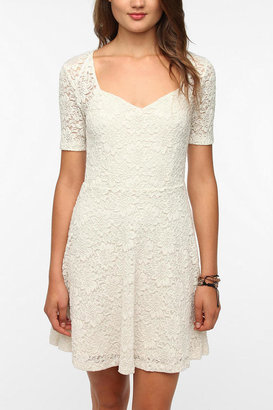 Urban Outfitters Pins And Needles Sweetheart Lace Dress