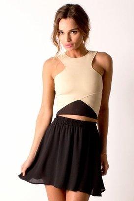 Donna Mizani Circle Skirt in Caviar