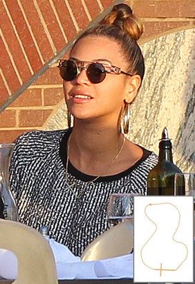 Jennifer Zeuner Jewelry Large Horizontal Cross Necklace as seen on Beyonce -