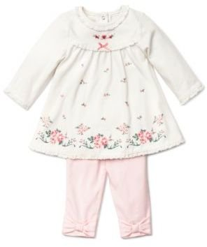 Little Me Newborn Girls 0-9 Months Chateau Rose Dress & Leggings Set