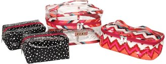Roxy Hold All 3-in-1 Cosmetic Set (Neon Berry) - Bags and Luggage