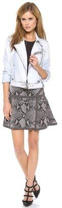 Diane von Furstenberg Flote Snakeskin Skirt