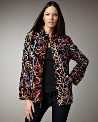 Caroline Rose Swirled Yarn Jacket