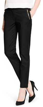 MANGO Outlet Cropped Slim Trousers