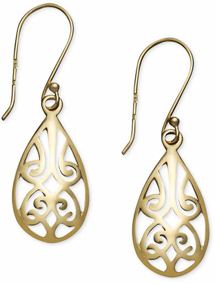 Giani Bernini Filigree Teardrop Earrings in 18k Gold over Sterling Silver and or Sterling Silver