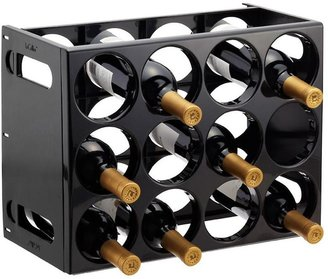 Container Store Le Cellier Wine Rack Black