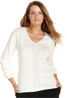 Calvin Klein Sweater, Long-Sleeve Ribbed Knit