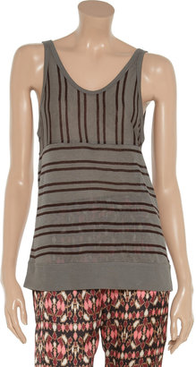 Alexander Wang Striped jersey tank