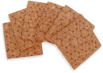 Thirstystone Dotted Square Cork Coasters (Set of 6)