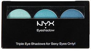 NYX *MKL Accessories The Eyeshadow Trio in Aqua Marine